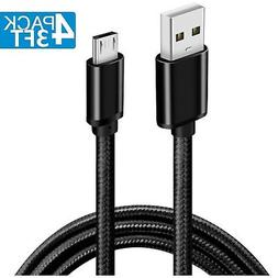 USB Cable Android Charger, D & K Exclusives 4-Pack Nylon Bra