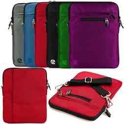 """VanGoddy Nylon Tablet Sleeve Shoulder Bag Case For 10.1"""" Sam"""