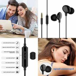 Wired Earbuds W Mic In Ear Earphone Line Micphone Ergonomic