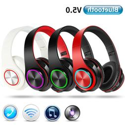 Wireless Bluetooth Headphones Stereo Earphones Headset Noise