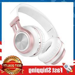 Wireless Bluetooth Headphones W/ Mic On Ear Lightweight Hi-F